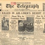 The Telegraph Sydney newspaper reports the fatal crash of De Uiver -1934 front page