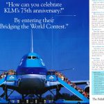 1994-10-00 VOGELVLUCHT KLM 75 YEARS ADVERT CENTRESPREAD