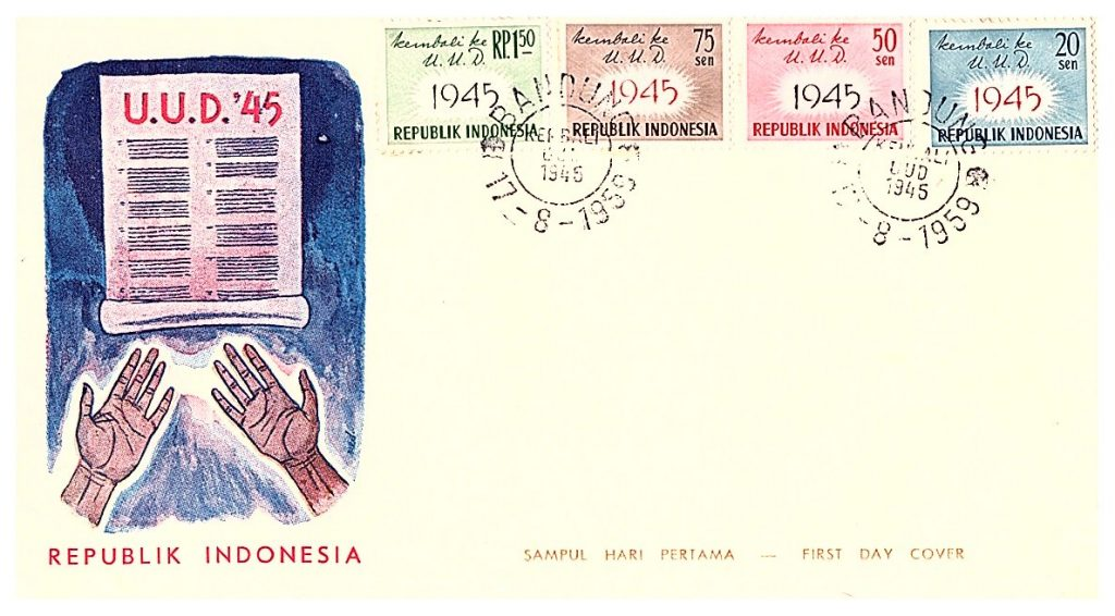 Misprint in Indonesian independence and KLM stamps