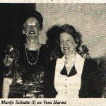 Photo Martje Schutte and Vera Rado 13-5-1996